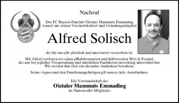 Nachruf Alfred Solisch